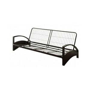 reputable site d8867 746f2 Details about Futon Frame Full Size Sofa Bed Couch Sleeper Furniture Dorm  Decor Metal Lounger