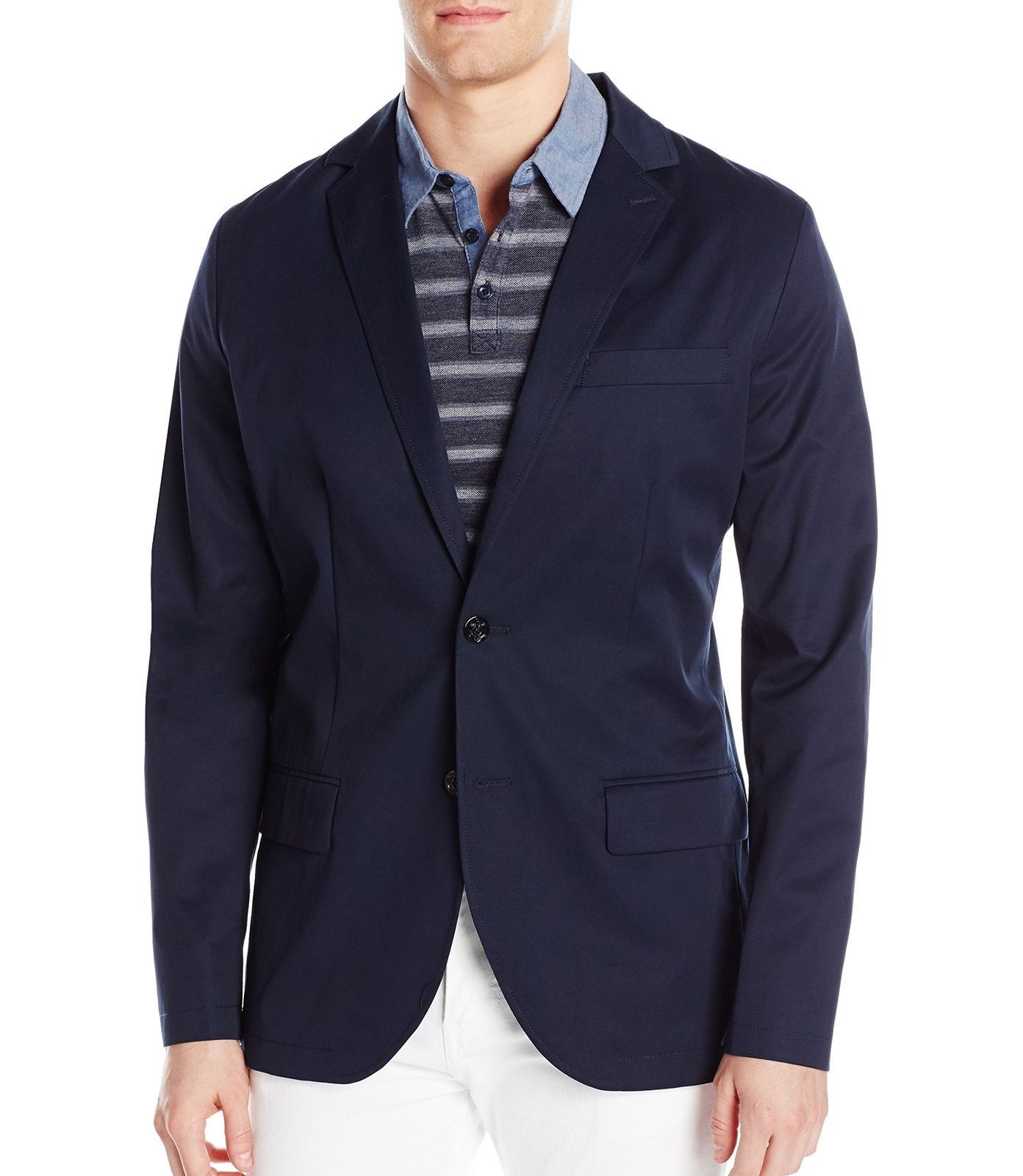 NWT Nautica True Navy Mens Long Sleeve Two Button Blazer Size XLarge RTL