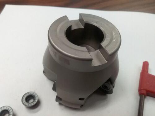 "4 Sandvik RCKT1204 Round inserts #506-R200-25 2-1//2/"" face mill R200 w"