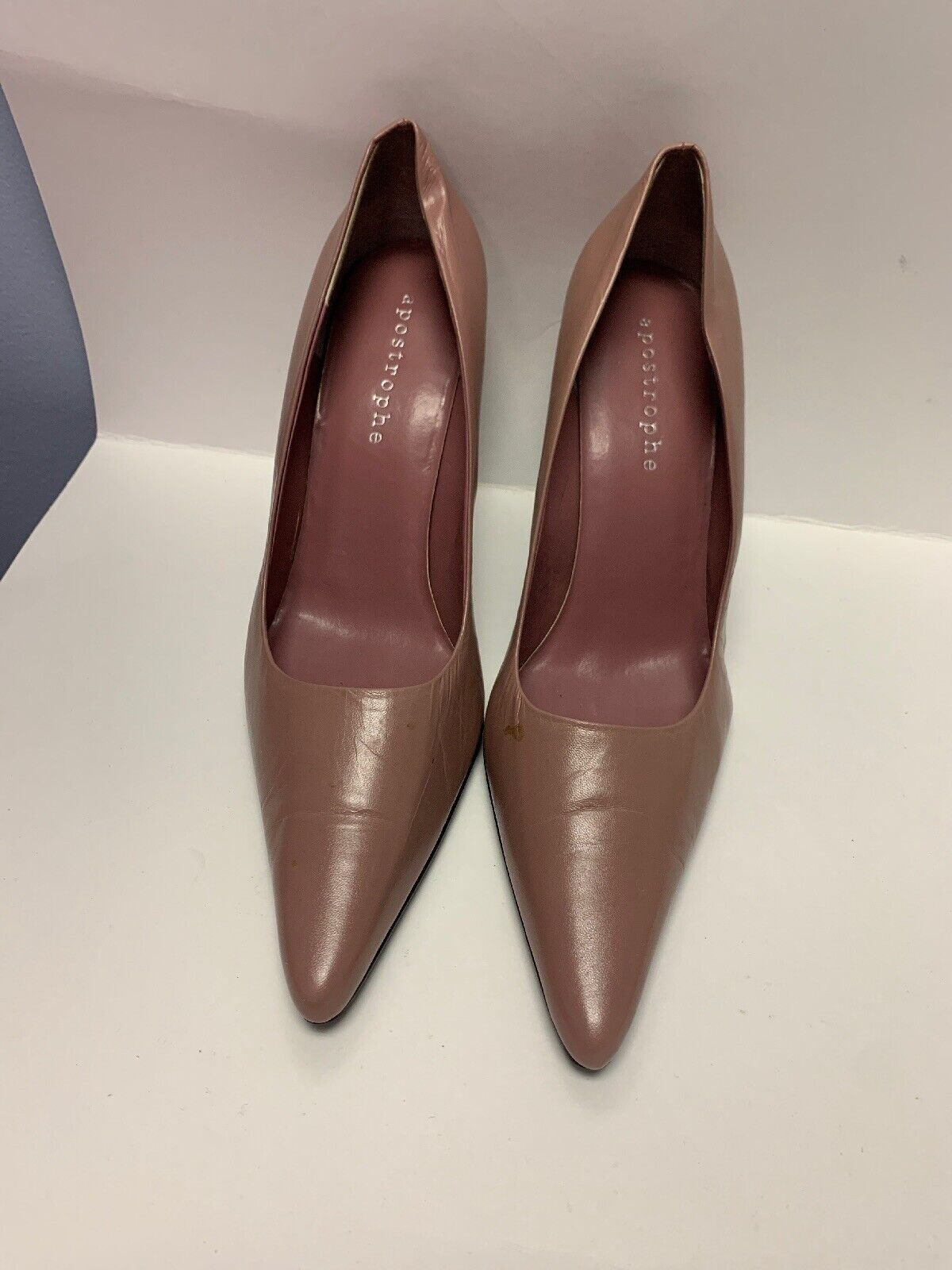 Apostrophe Brand Women's Heels- Mauve Colored Pump, Size 9 1/2. Slightly Used