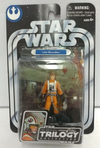 New Star Wars Original #05 Trilogy Luke Skywalker Pilot Action Figure 2004