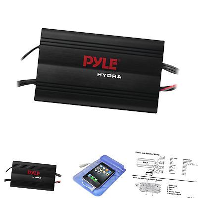 Pyle PLMRMP3B Marine 800W 4 Channel iPod//MP3 Power Amp+Volume Remote control