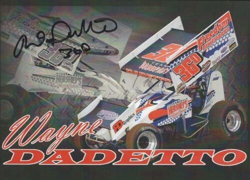 """SIGNED 2016 WAYNE DADETTO /""""FREEDOM SPORTS/"""" #36D WORLD OF OUTLAW SPRINT POSTCARD"""