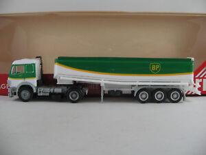 Herpa-826121-Mercedes-Benz-SK-Tanksattelzug-034-BP-034-in-weiss-gruen-1-87-H0-NEU-OVP