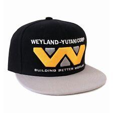 OFFICIAL ALIEN - WEYLAND-YUTANI CORP LOGO BLACK SNAPBACK CAP (BRAND NEW)