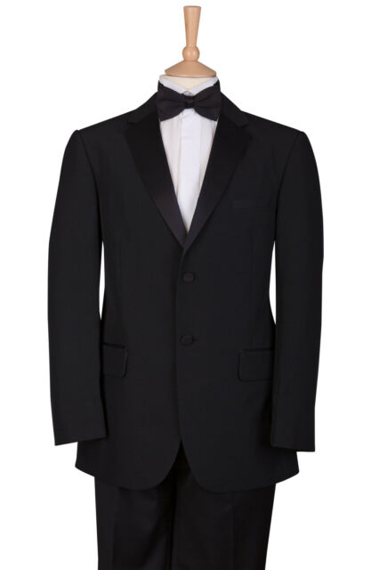 Austin Reed Tuxedo Tux Black Single Breasted Dinner Jacket Blazer Wide Shaw 46r For Sale Online Ebay