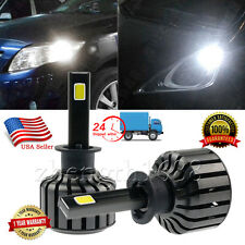 pair H1 80W 10000LM CREE LED Headlight Headlamp Kit Bulbs white light