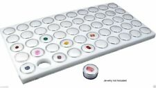 New 50 White Foam Gem Jars Gemstone Storage Display Tray Insert