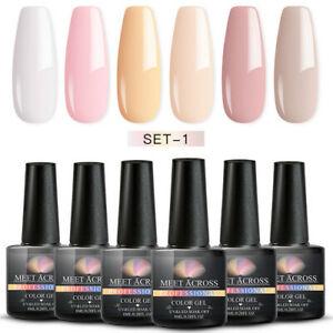 MEET-ACROSS-8ml-UV-Gel-Varnish-Soak-Off-Nail-Art-Gel-Polish-Manicure-6Bottles