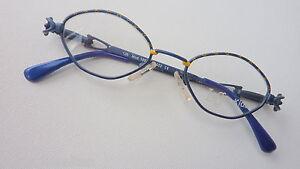 Logo-Maedchenbrille-Kinder-unisex-40-16-blau-Federscharniere-guenstig-neu-size-S