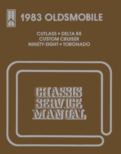 1983 Oldsmobile Cutlass 98 88 Custom Cruiser Toronado Shop Service Repair Manual