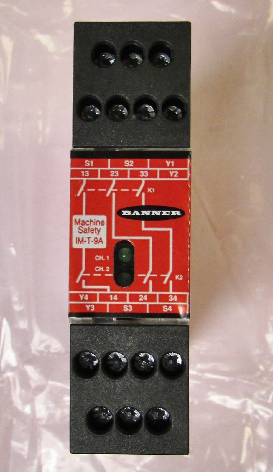 Banner Im-t-9a Safety Relay Module 24 VDC IMT9A on