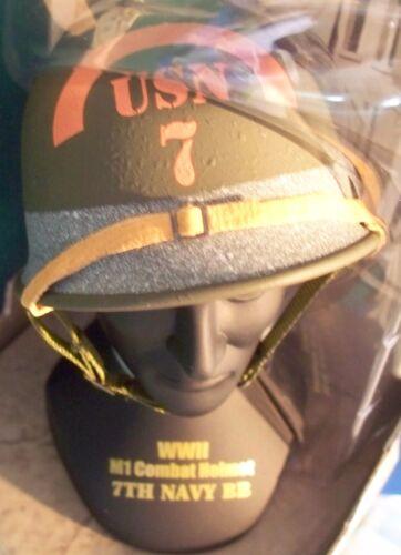 1//4 Scale Gearbox  WWII D Day 7th U.S.Navy Omaha Beach Battalion M1 Helmet