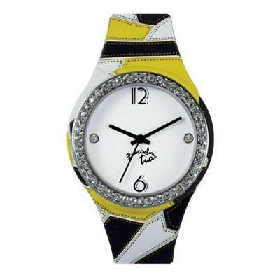 Orologio Donna BRACCIALINI TUA Silicone Colorato Swarovski Cuore Heart NEW