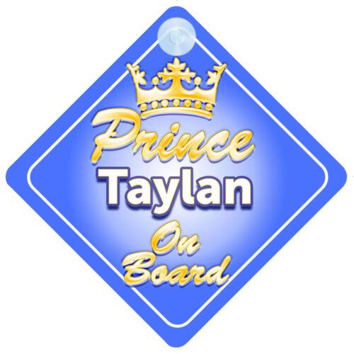 Prince héritier taylan à bord garçon personnalisé Voiture Signe enfant cadeau