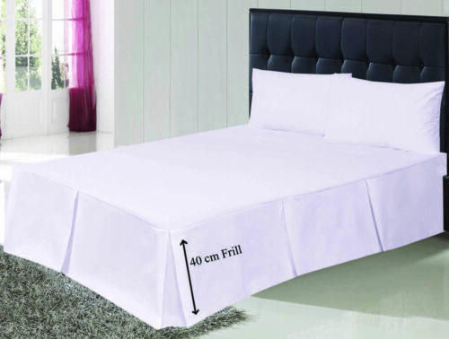 Platform Base Valance Sheets Pleated Single 4FT Double King Easy Care Bed Sheets