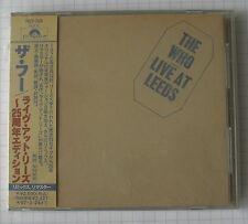 THE WHO - Live At Leeds REMASTERED JAPAN CD OBI RAR! POCP-7018