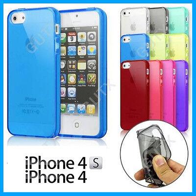 Coque, Housse, Etui, Case - Apple iPhone 4 & 4S - Gel Silicone - 8 Couleurs