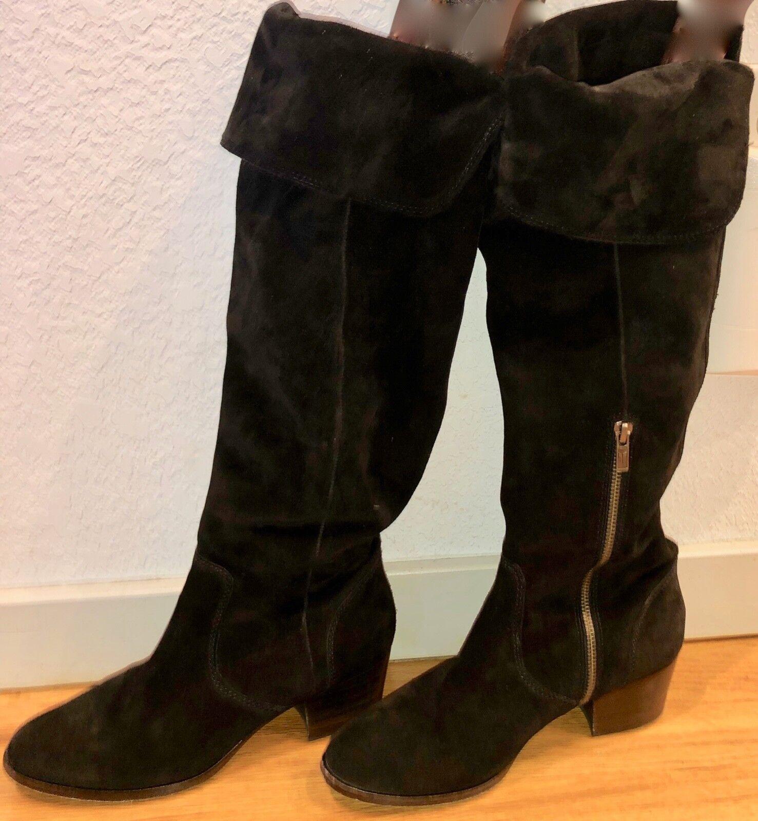 Frye clara botas la Negro Suede sobre la botas rodilla por encima de la rodilla tamaño 8.5 JC0497 cb1267