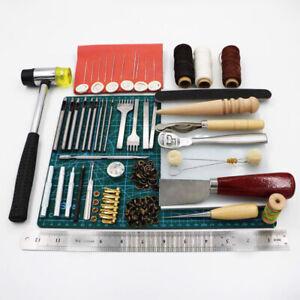 Craft-69pcs-Set-pelle-Fai-Kit-Attrezzi-Cucito-Cucitura-Incisione-Groover-Calda