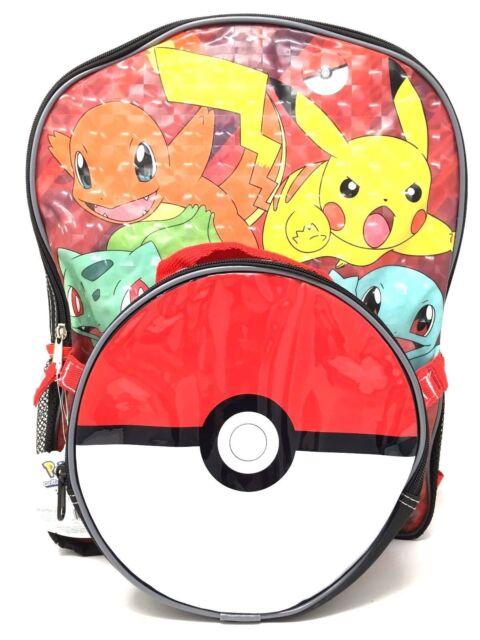 Nintendo Pokemon Boys  Pokeball 16 Inch Backpack With Lunch Kit for ... 522edd2fb1927