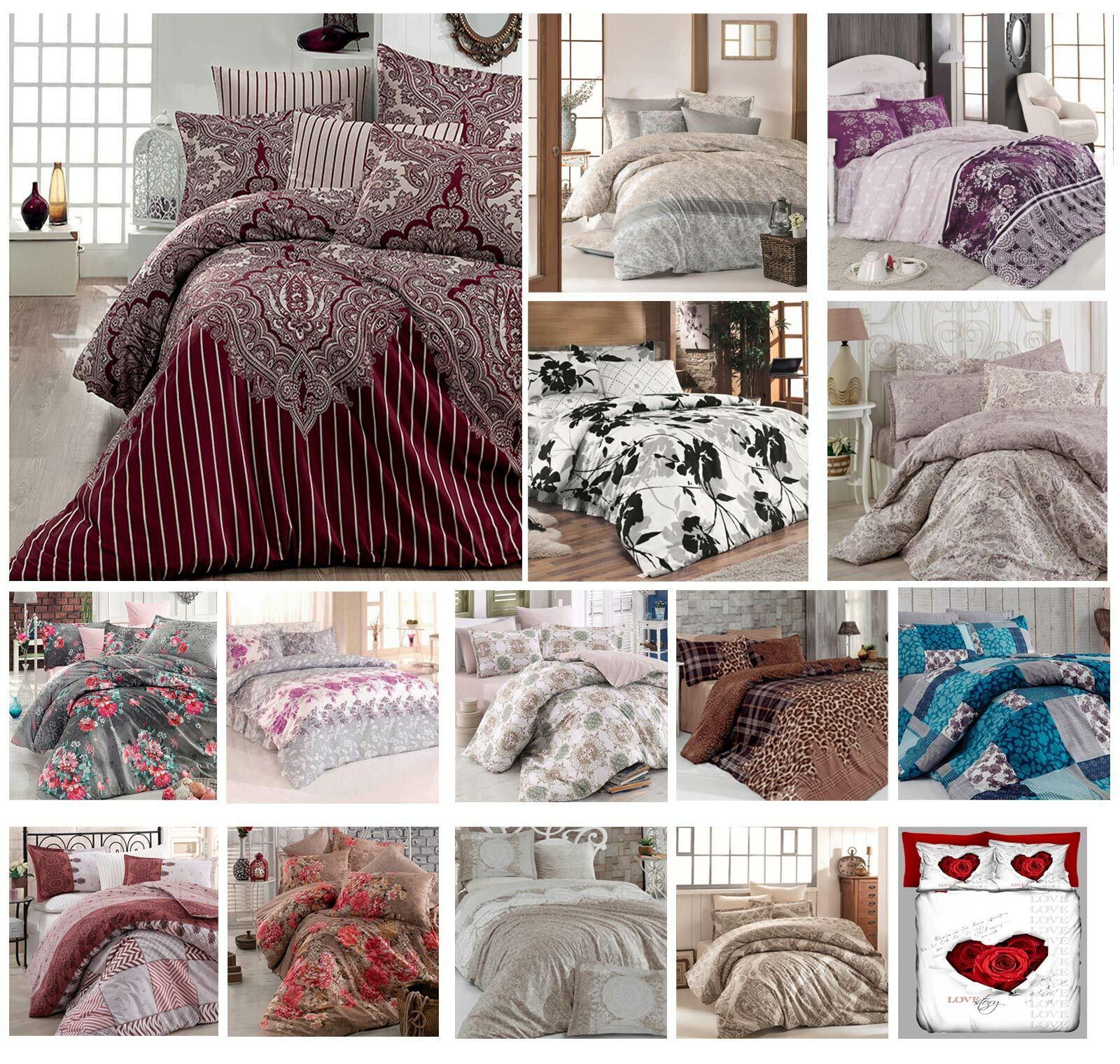 Bettwäsche 135x200 cm Bettgarnitur Bettbezug Baumwolle Kissen 6 tlg VAR  1 | Bevorzugtes Material