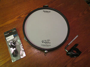 Roland-PD-125-BK-12-034-Mesh-Head-V-Drum-PD125-BLACK-WITH-CLAMP-AND-CABLE