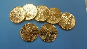 Mexican-50-pesos-la-minado-GOLD-PLATED-WITH-PURE-GOLD