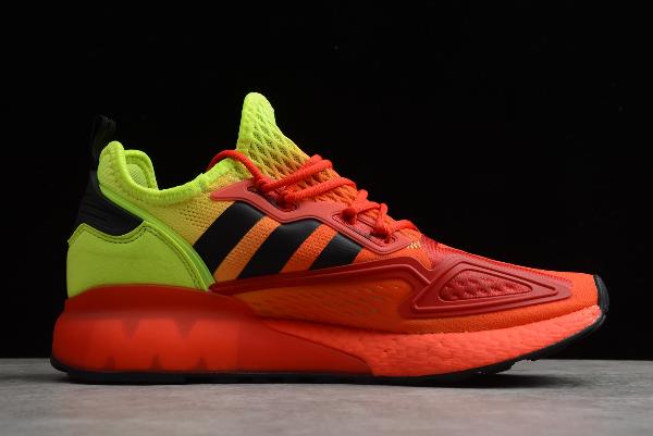 Adidas Zx 2K Boost Herren Gelb Schwarz Rot Turnschuhe Schuhe Sneaker Alle Größen