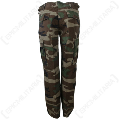 US Womens BDU Woodland Camo Trousers Ladies Cargo Pants Army Military All Size