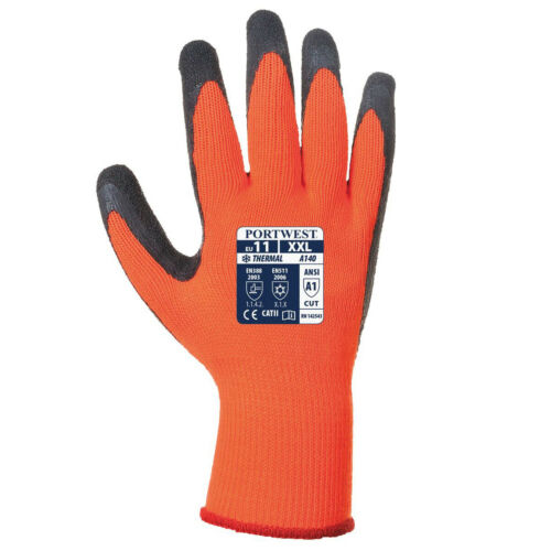 Portwest A140 Insulated Thermal Grip Builder Outdoor Warm Work Gloves Pack of 12