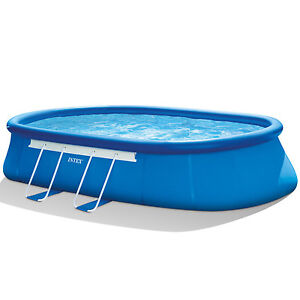 """Intex 20' x 12' x 48"""" Oval Frame Swimming Set with 1500 GPH Filter Pump 