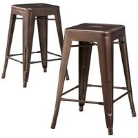 Carlisle 24 Metal Counter Stool - Set Of 2