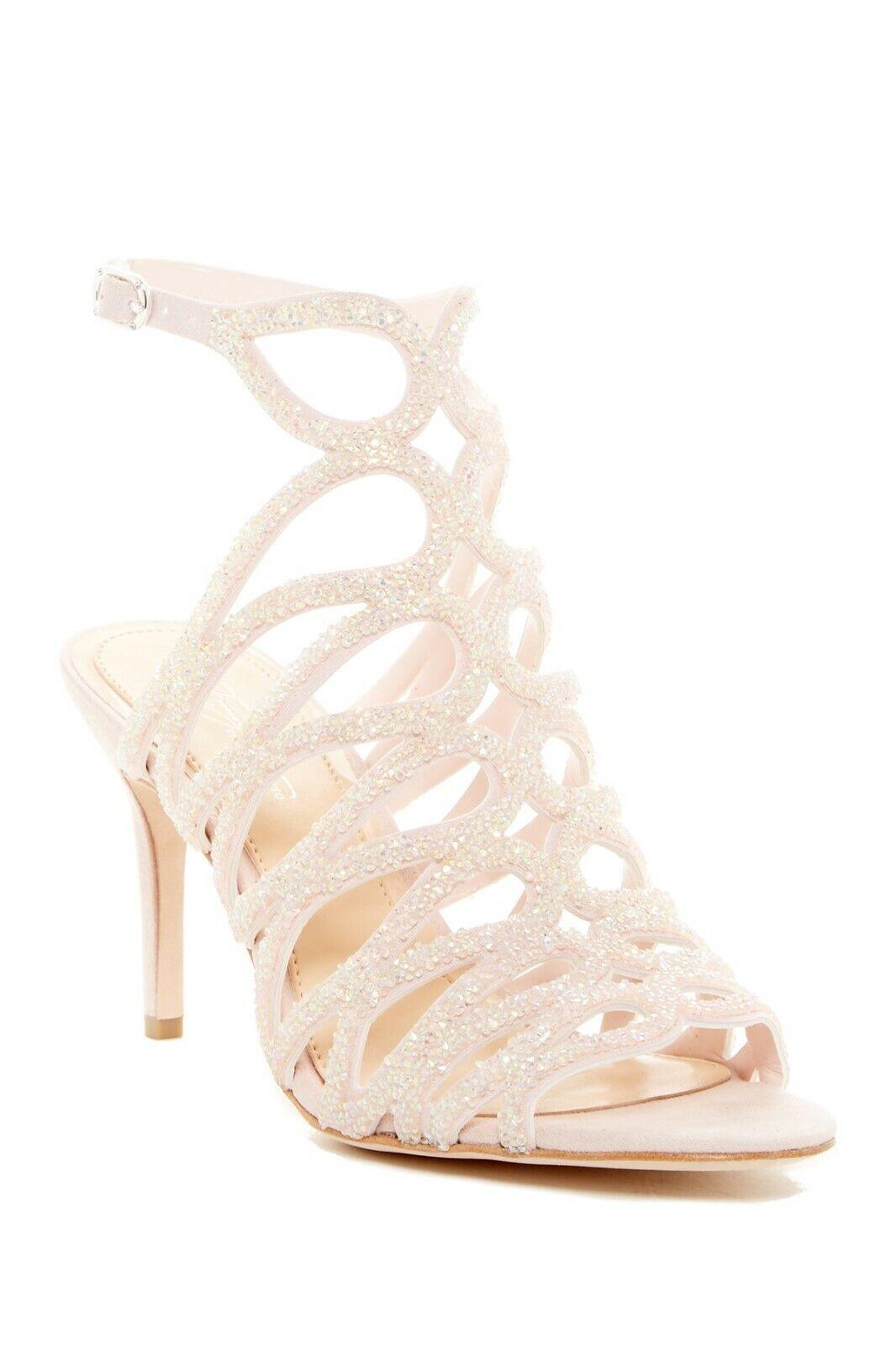 Imagine Vince Camuto Glitter Cage Dress Sandal Size 11M Light Pink, MSRP