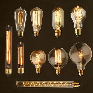 e27 40w 60w vintage retro filament edison tungsten light bulb