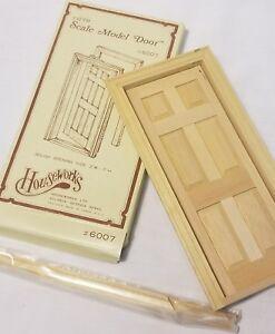 DOOR 6 PANEL INTERIOR  dollhouse miniature wooden 6007 Fairy Door 1//12 scale