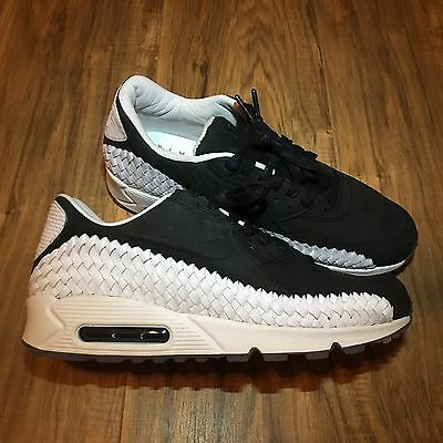 Details about Mens Nike Air Max 90 Woven Sneakers New, Black White OREO 833129 003