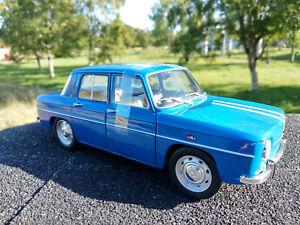 Renault-8-Gordini-Solido-echelle-1-18eme-neuve-bleue-longueur-21cm