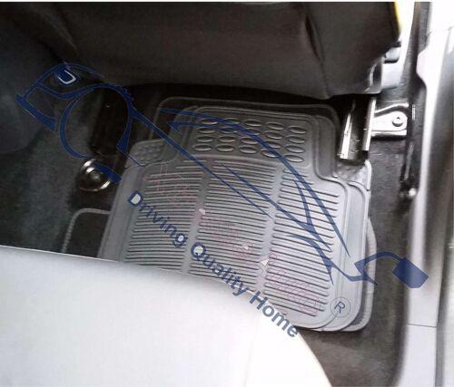 4 Piece Heavy Duty Black Rubber Car Mat Set Non Slip VW FOX 2005/>