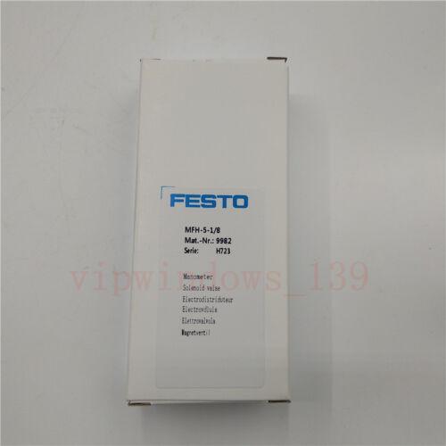 FESTO Solenoid Valve MFH-5-1//8 9982 New Original