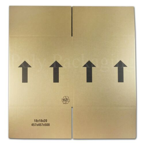 """457x457x508mm//18x18x20/""""DOUBLE WALL//Large Cardboard Stacking Storing Light Boxes"""