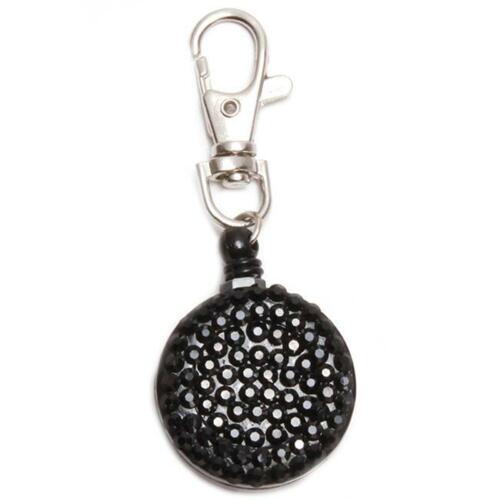 Retractable Fashion Rhinestone Lanyard ID Badge Reel Phone Key Holder AS