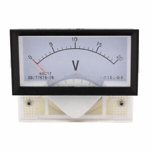 DC-0-20V-Class-1-5-Plastic-Rectangle-Panel-Analog-Gauge-Voltmeter-Voltage-Meter