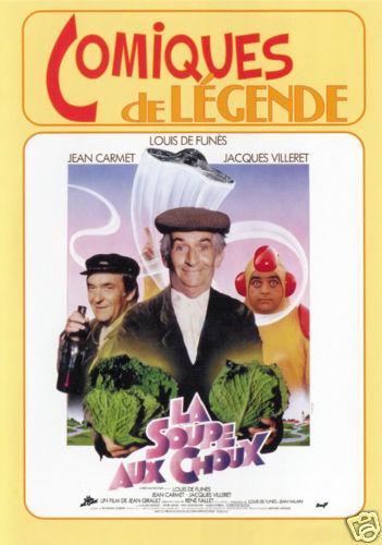 La soupe au choux Louis de Funes movie poster print