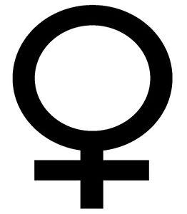 Female-Symbol-Venus-Vinyl-Sticker-Decal-Feminine-Choose-Size-amp-Color