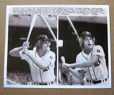 Detroit Tigers' Mark (The Bird) Fidrych 8 x 10 B&W photo at bat !