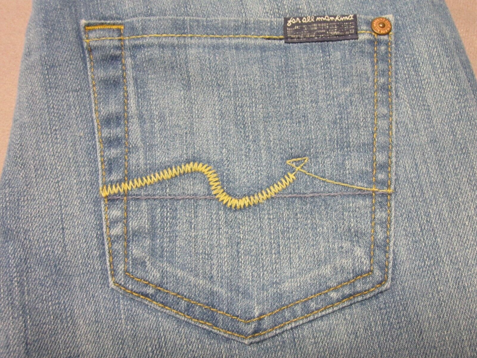 SEVEN 7 FOR ALL MANKIND WOMENS ORIGINAL BOOTCUT FIT LIGHT blueE JEANS SIZE 25 NEW