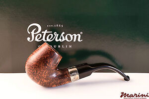 PFEIFE PIPES PIPE PETERSON OF DUBLIN ARAN X220S CURVA RADICA LISCIA CON VERA