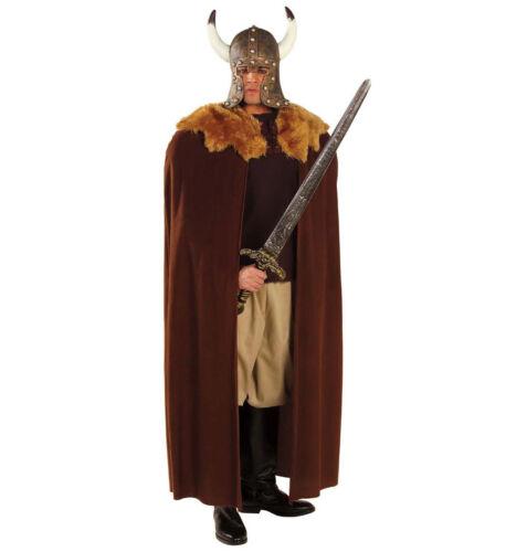 Cape per Guerriero Vichingo, Game of Thrones Medievale Costume Peluche Marrone