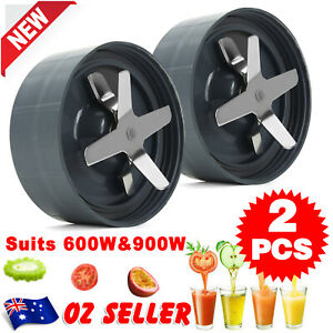 2PCS For Nutribullet Extractor Cross Blade 900W Replacement Part US